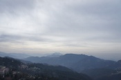 View from the porch at Wake & Bake Cafe, Simla, India
