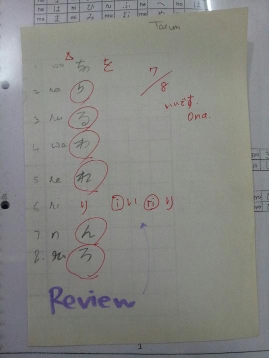 Hiragana Test