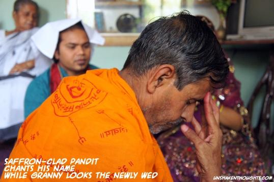 Saffron-clad Pandit