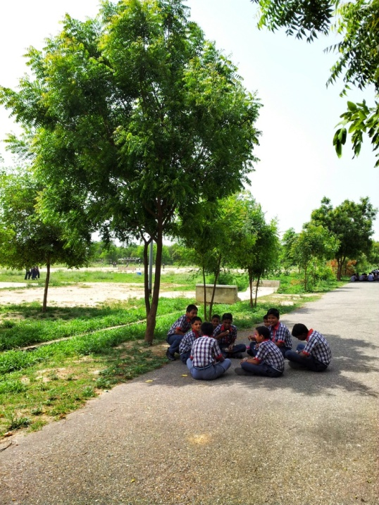 Boys Lunching in Bhatinda